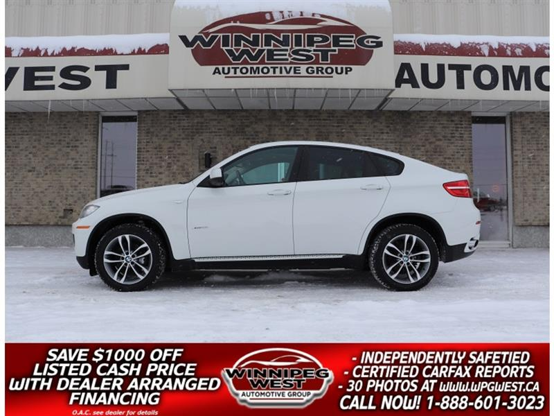 2014 BMW X6 xDRIVE 35i AWD, LEATHER, ROOF, NAV, LUXURY & SPORT #GIWCON181