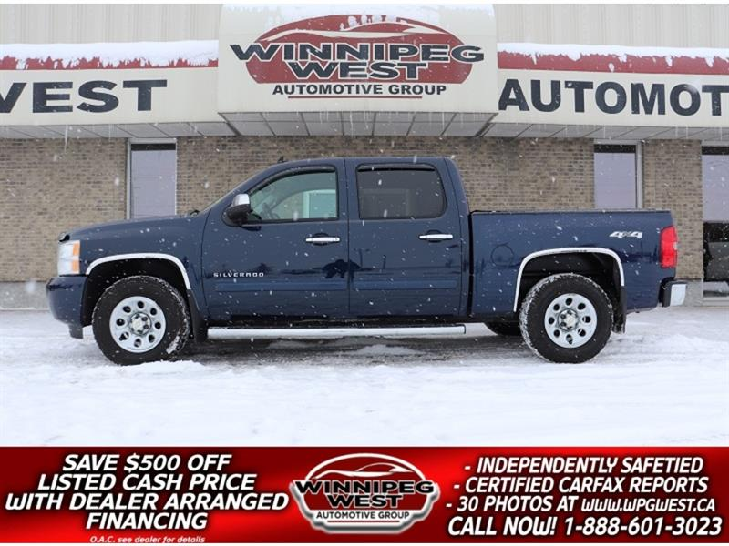 2011 Chevrolet Silverado 1500 CREW CAB V8 4X4, CLEAN, ACCIDENT-FREE, LOCAL TRK #GW5198