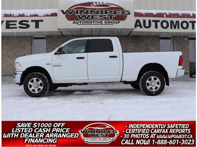 2016 Dodge Ram 2500 SLT CREW 6.4L HEMI V8 4X4, WELL EQUIPPED HD TRUCK #GW5244A