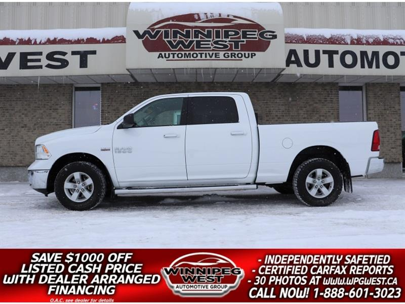 2017 Ram 1500 SLT CREW HEMI V8 4X4, LOADED, AMAZING SVC HISTORY #GW5234