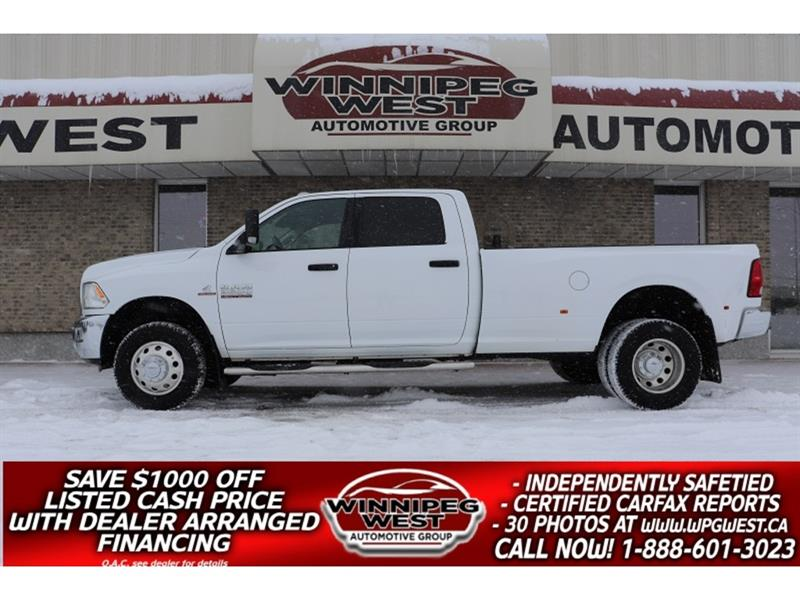 2015 Ram 3500 6.7L CUMMINS CREW DUALLY 4X4, 5TH PREP PKG, MINT! #DW5086