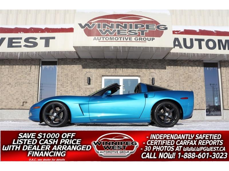 2008 Chevrolet Corvette TARGA TOP, LOTS OF $$ SPENT ON UPGRADES, STUNNING #W5403
