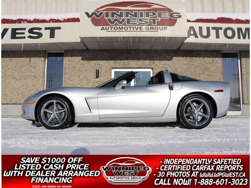2012 Chevrolet Corvette 3LT COUPE TARGA TOP, LOADED, LOW KM, LOCAL TRADE #W5402