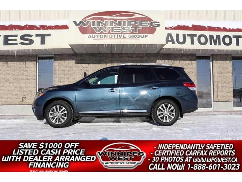 2016 Nissan Pathfinder SL AWD 7 PASS, 2 SUNROOF, HTD LEATHER, NAV, SHARP! #GIW5275