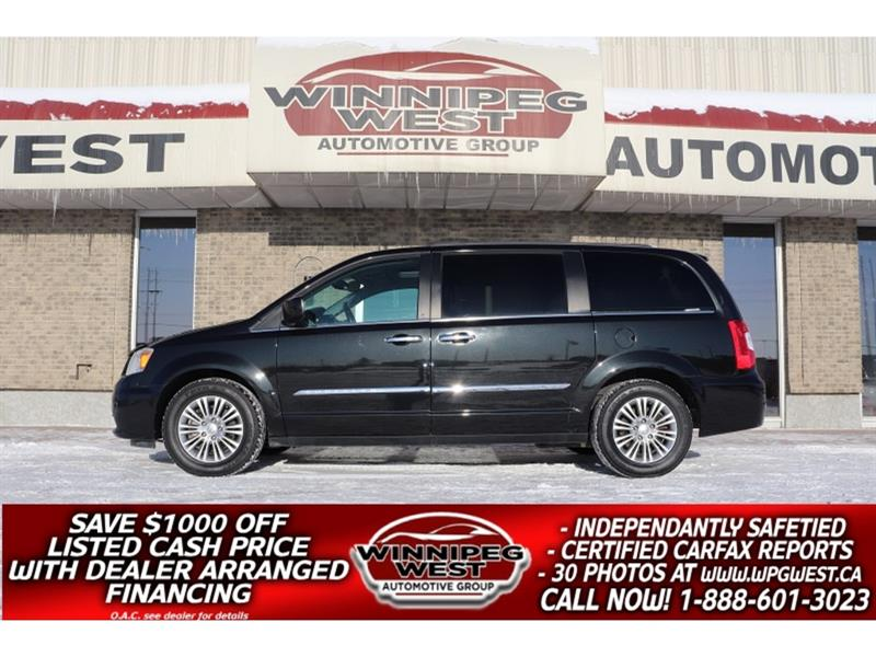 2015 Chrysler Town & Country LIMITED, HTD LEATHER, NAV, DVD, SUNROOF, LOCAL #W5237