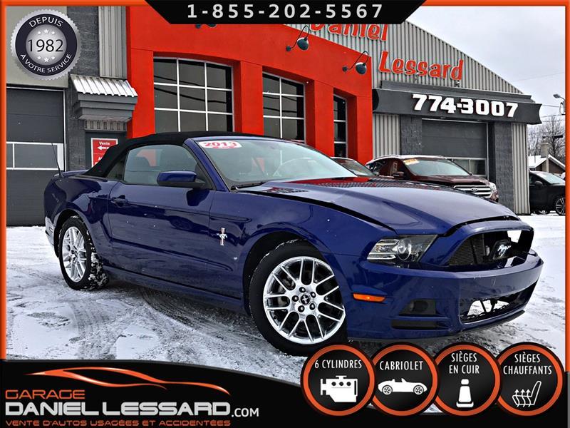 Ford Mustang 2013 V6 3,7L, PREMIUM CONVERTIBLE, CUIR ELEC X2 ET CHAU #39477