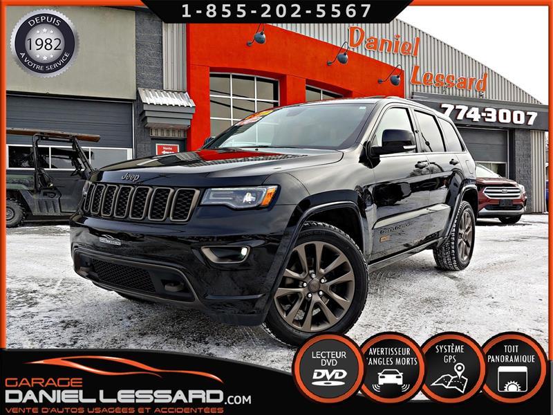 Jeep Grand Cherokee 2017 75TH CUIR, TOIT PANO, GPS, TV-DVD, MAG 20  #79770