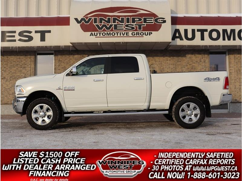 2018 Ram 2500 LARAMIE CUMMINS DIESEL CREW 4X4, LOADED, AS NEW #DW5229