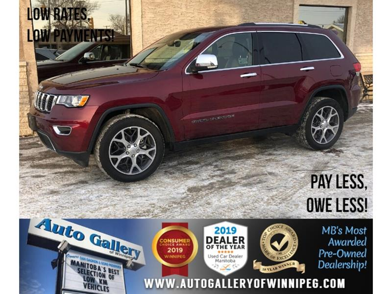 2019 Jeep Grand Cherokee Limited *AWD/Navi/B.tooth/Htd Lthr/Pano Roof #24242