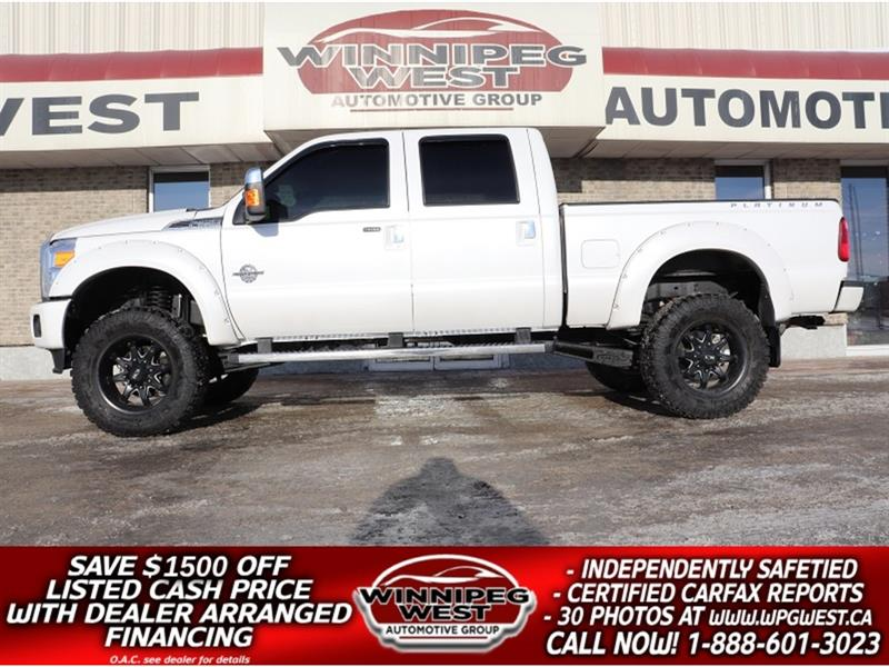 2016 Ford F-350 LIFTED PLATINUM CREW  POWERSTROKE DIESEL 4X4, NICE #DWL5249