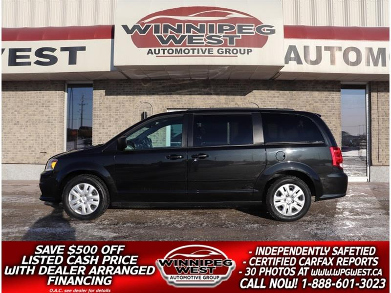 2017 Dodge Grand Caravan SXT QUADS, STOW N GO, BLUETOOTH, REAR AIR/HEAT #W5397