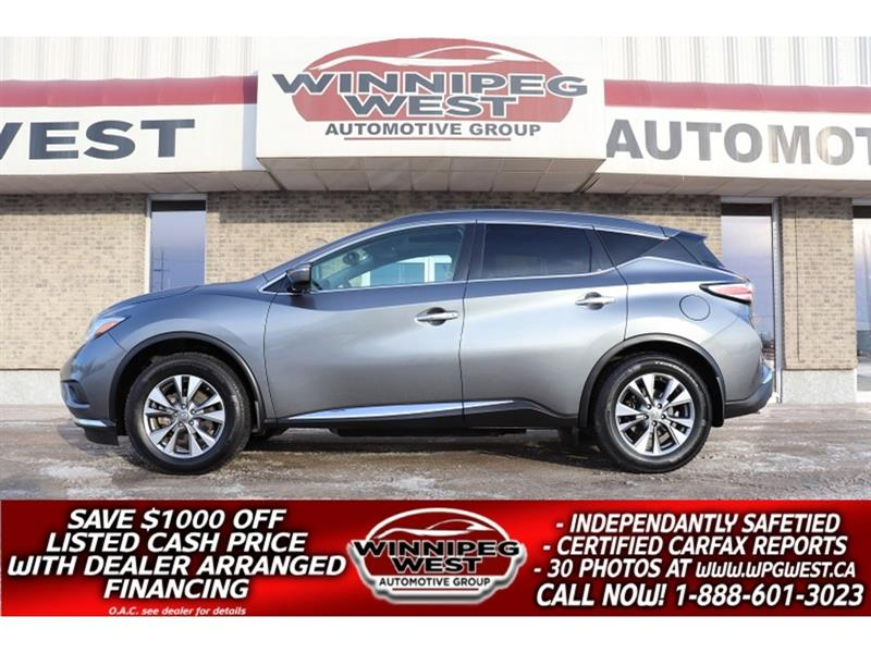 2015 Nissan Murano AWD, NAV, PAN ROOF, HTD SEATS, LED LIGHTS & MORE! #GIW5417