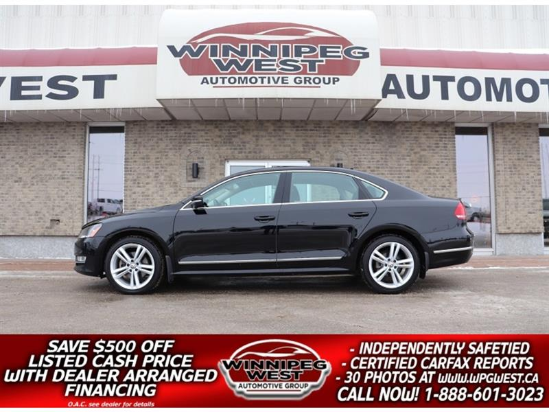 2014 Volkswagen Passat HIGHLINE TDI DIESEL, HTD LEATHER, SUNROOF, NAV #DW5411