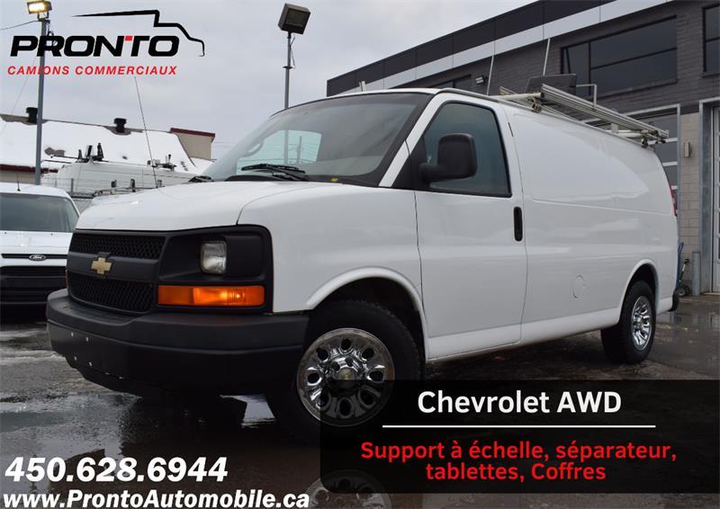 2010 Chevrolet Express Cargo Van AWD 1500 ** RARE ** VOIR ÉQUIPEMENTS ** #1186