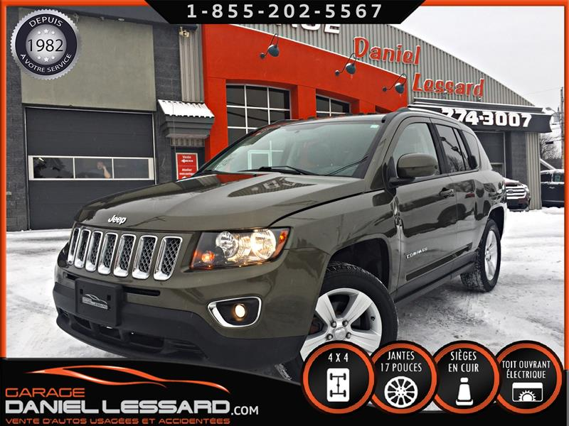 Jeep Compass 2015 4WD * HIGH ALTITUDE * CUIR, TOIT, MAG 17 ET PLUS  #59813