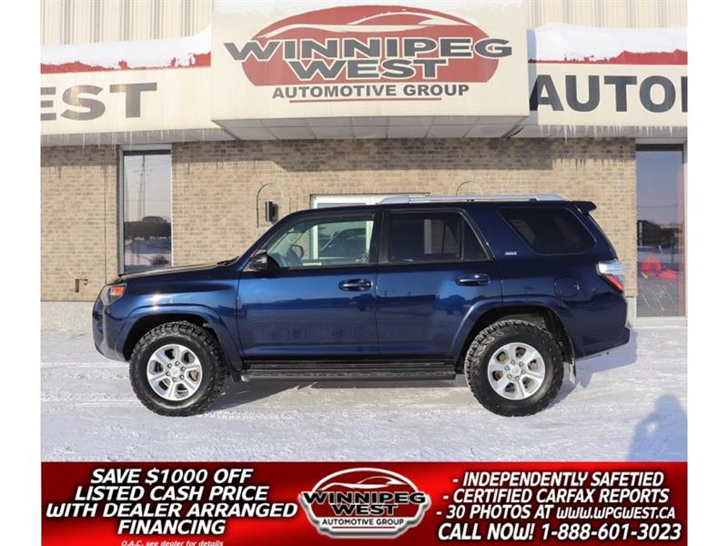 2014 Toyota 4Runner SPORT 4X4, 7 PASS, LEATHER, ROOF, NAV & MORE SHARP #GIW5423
