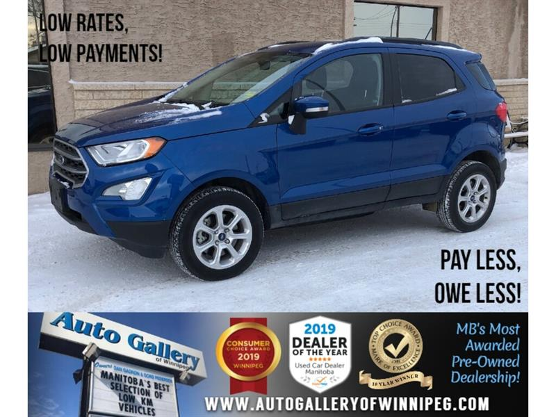 2018 Ford EcoSport SE *Local Unit/AWD/B.tooth/B.Cam/Htd Seats/Roof #24269