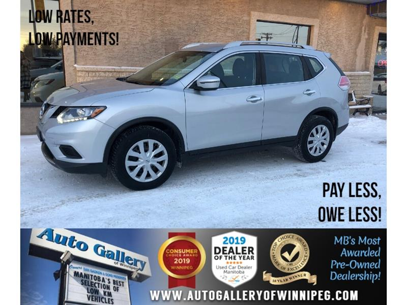 2016 Nissan Rogue S *1 Owner/Accident-Free/Bluetooth/Backup Camera #24276