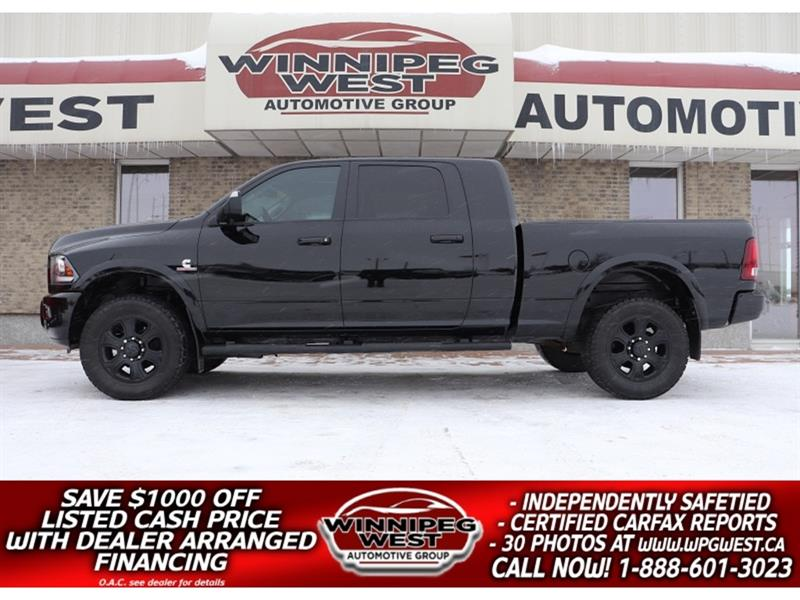 2014 Ram 3500 MEGA LARAMIE SPORT 6.7L CUMMINS 4X4, LOADED, SHARP #DW5414