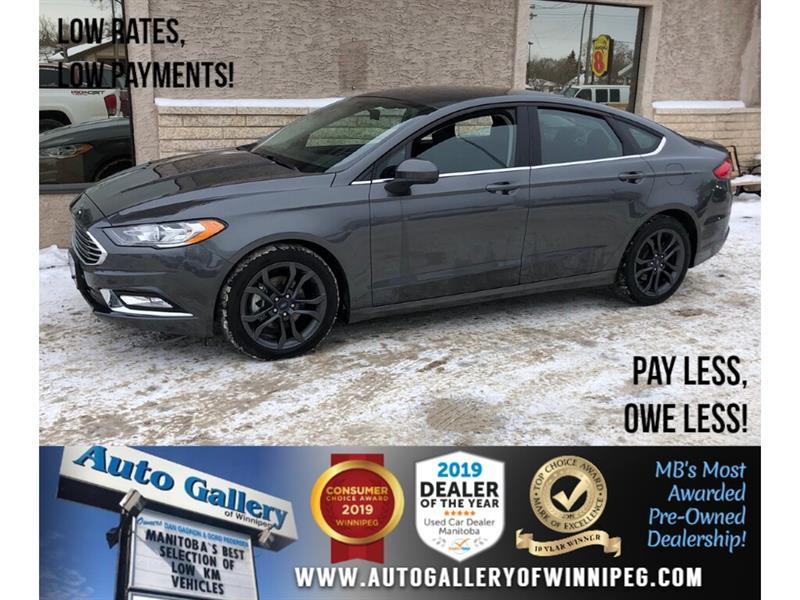 2018 Ford Fusion SE *Local MB Unit/Bluetooth/Back.Cam/Htd Lthr #24284