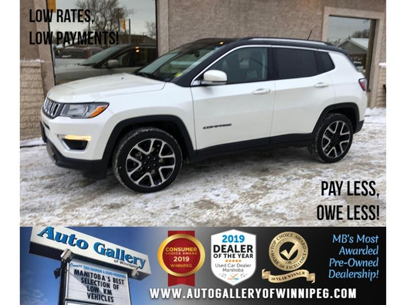 2019 Jeep Compass Limited *AWD/Navi/B.tooth/Htd Lthr/Pano Roof #24290