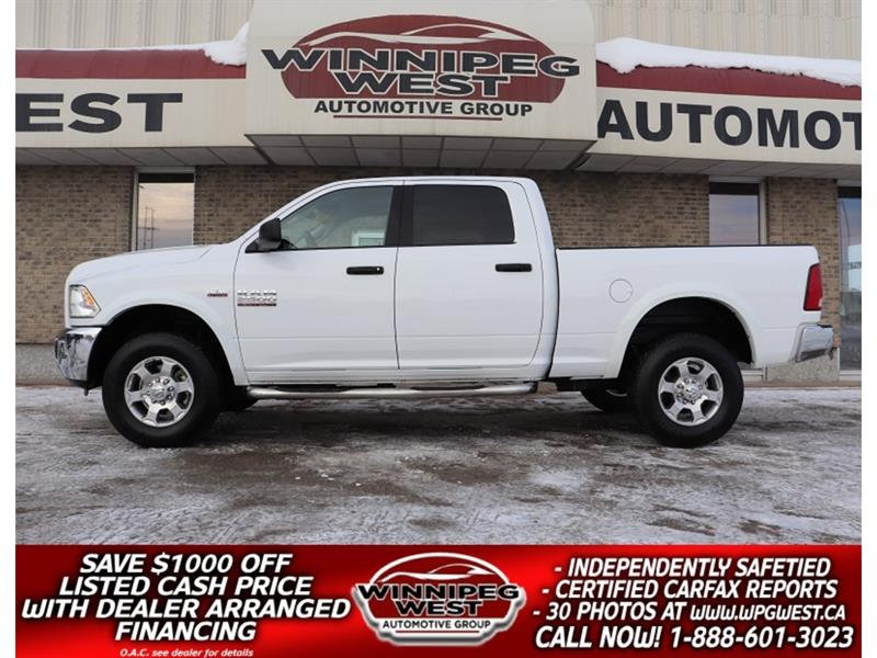 2018 Ram 2500 OUTDOORSMAN CREW HEMI V8 4X4, WELL EQUIPPED,CLEAN! #GW5456