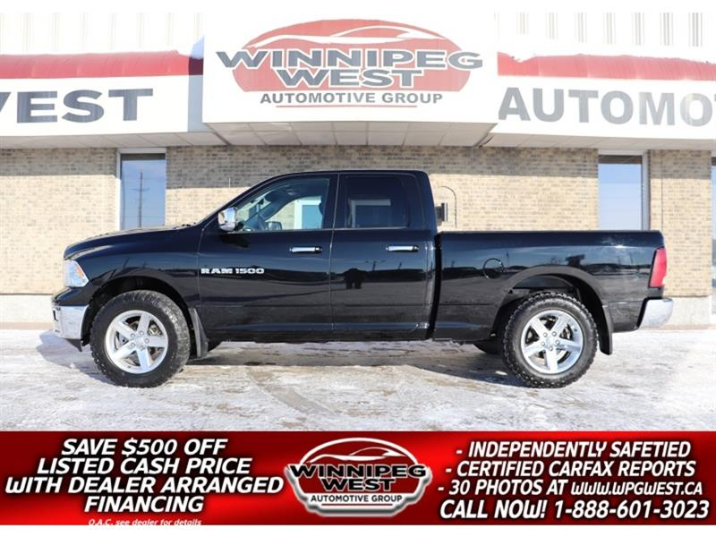 2012 Dodge Ram 1500 BIG HORN 5.7L HEMI 4X4, LOADED, NAV, LOCAL, LOW K! #GW5450A