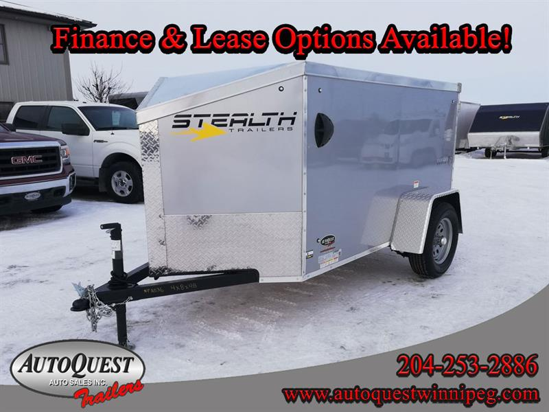 2020 Stealth 4' x 8' V-Nose Cargo Trailer
