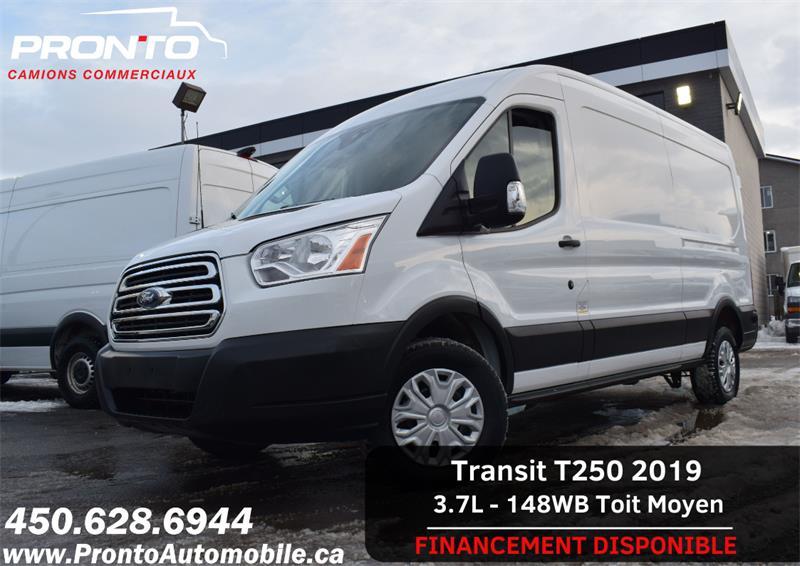 2019 Ford Transit Van T-250 148WB Med Roof ** 1 SEUL PROPRIÉTAIRE ** #1227