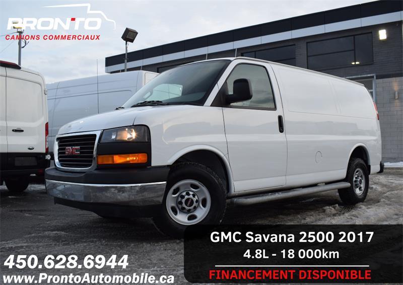 GMC Savana Cargo Van 2017 2500 ** 4.8L ** Gr. Électrique ** Marche pieds ** #1226