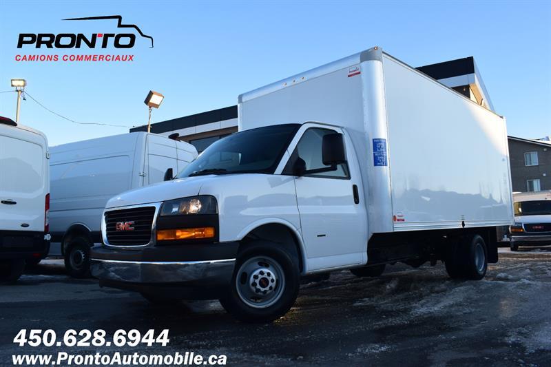 2019 GMC Savana Commercial Cutaway 3500 Van 177 Cube 16 pieds ** 6.0L ** #F-1233