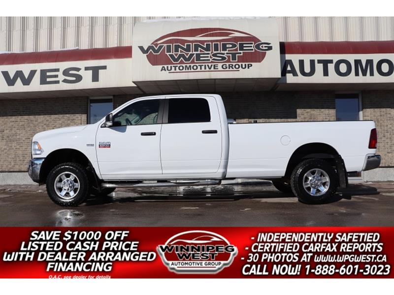 2012 Ram 2500 SLT+ CREW 8FT LONG BOX 4X4, TOW PKG, CLEAN LOW KMS #GW5471