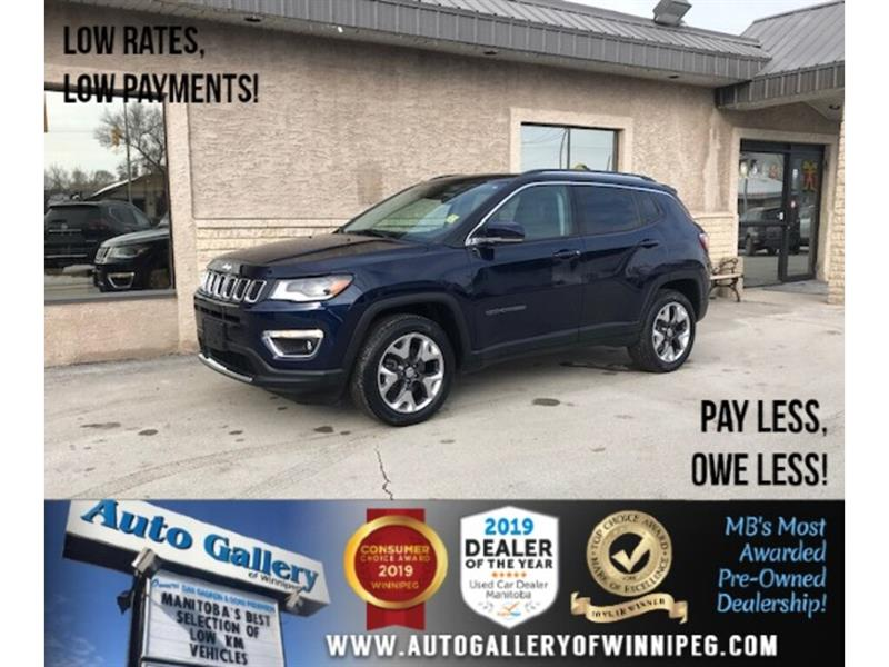 2018 Jeep Compass Limited *4X4/Navi/B.tooth/B.Cam/Htd Lthr/Pano Roof #24310