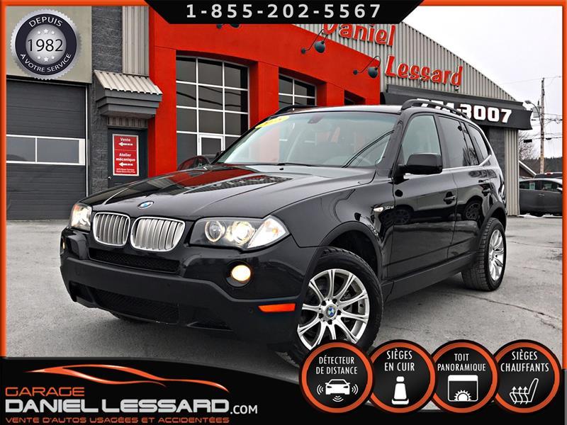 BMW X3 2008 AWD 3.0, TOIT PANO, CUIR CHAUFFANT, 8 MAGS, PRÊT ! #80121