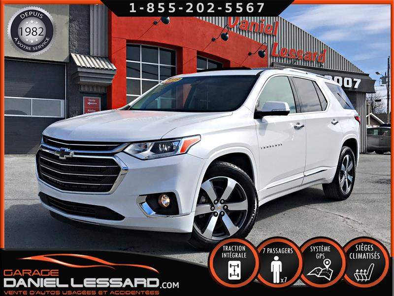 Chevrolet Traverse 2019 PREMIER, AWD, 7 PLACES, TOIT PANO, CUIR, FULL ! #99364