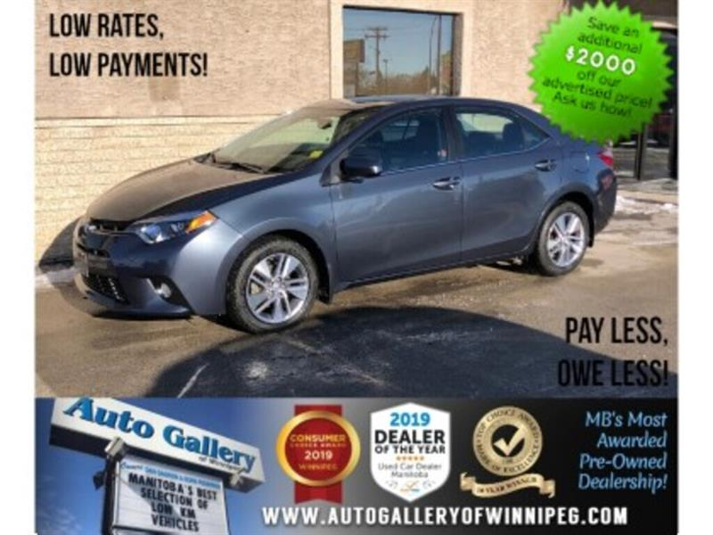 2015 Toyota Corolla LE ECO *1 Owner/Navi/B.tooth/Lthr/Roof #24058