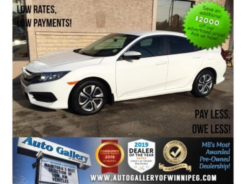 2017 Honda Civic Sedan LX *One Owner/Accident Free/5Spd/B.tooth/Back.Cam #24164