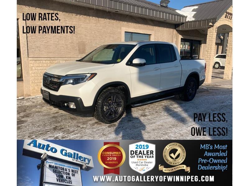 2018 Honda Ridgeline Sport *AWD/B.tooth/B.Cam/Htd Seats/Roof #24323