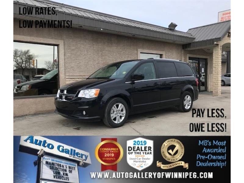 2019 Dodge Grand Caravan Crew Plus *Navi/DVD/Pwr Doors/Htd Lthr/B.Cam #24334