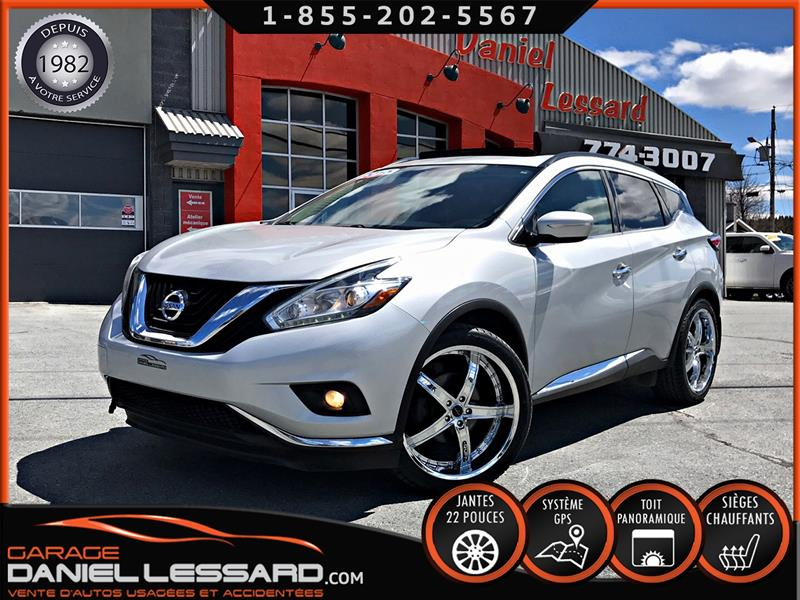 Nissan Murano 2015 SV, AWD, TOIT PANO, GPS, MAG 22 P, HAYON MÉCANIQUE #59052