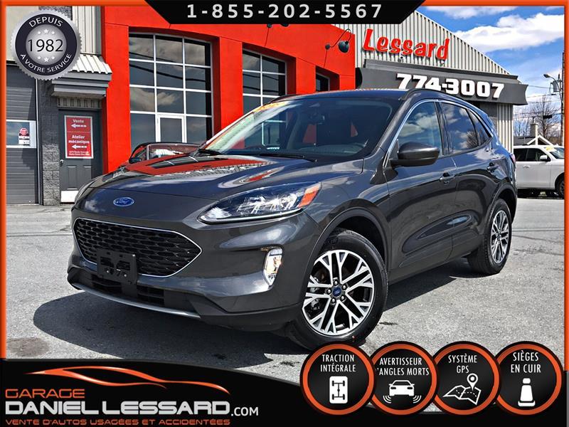 Ford Escape 2020 SEL AWD 1.5 L, CUIR, GPS, ANGLES MORT, ET BIEN +++ #00175