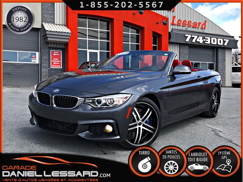2015 BMW 4 Series 435i, AWD, CONVERTIBLE HARDTOP, CUIR, 3.0L TWIN #59680