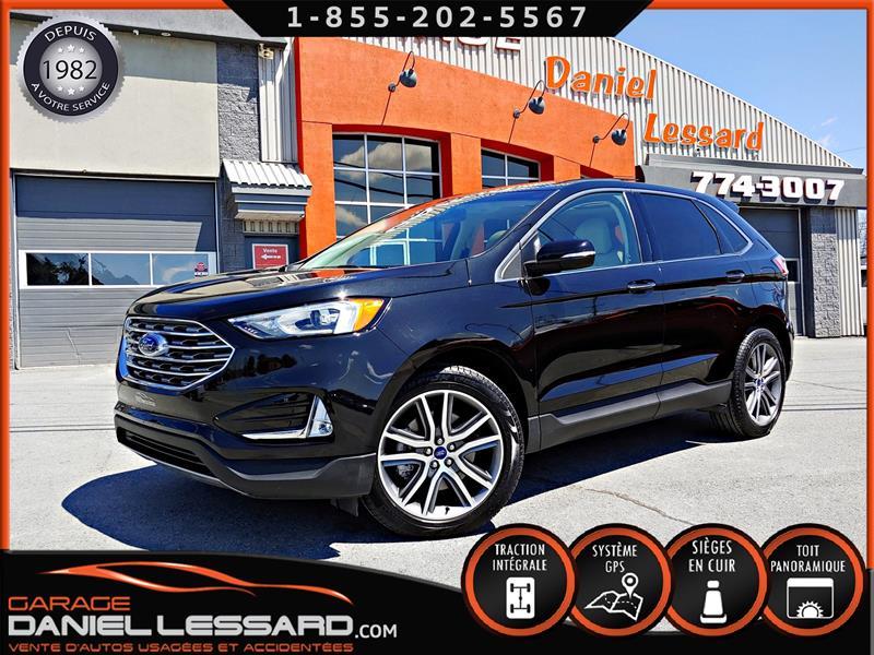 Ford EDGE 2019 TITANIUM AWD, TOIT PANO, CUIR CHAUFFANT, GPS, MAGS #90004