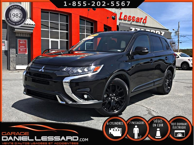 Mitsubishi Outlander 2019 SE AWC BLACKEDITION, CUIR, TOIT, ANGLES MORT, #90189