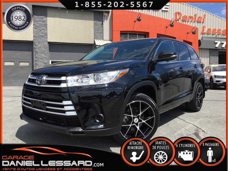 Toyota Highlander 2017 LE, TRACTION AVANT, V6, MAG 20 P, HITCH, CAMÉRA #70058