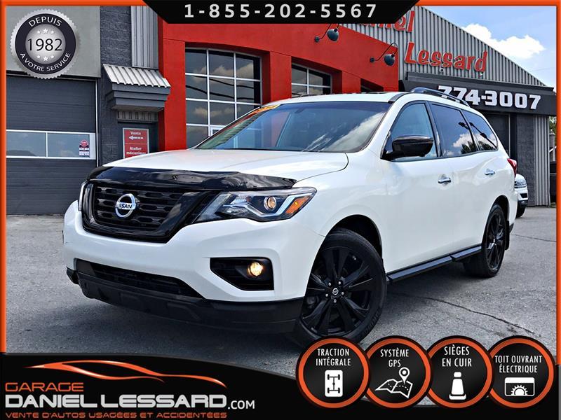 Nissan Pathfinder 2018 12060KM, MIDNIGHT SL FULL EQUIPE, CUIR, TOIT, GPS #89222
