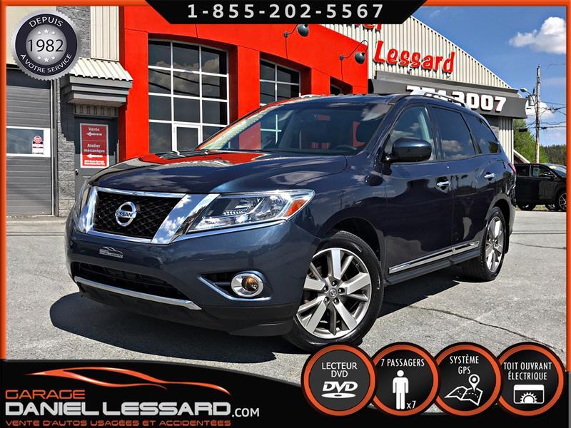 Nissan Pathfinder 2014 PLATINUM , DVD, GPS, 98KM,  PEINTURE NEUVE!!! #49512