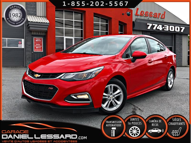 Chevrolet Cruze 2018 LT RS SEDAN AUTO, BAS KM, BANCS CHAUFFANTS,+++ #80241