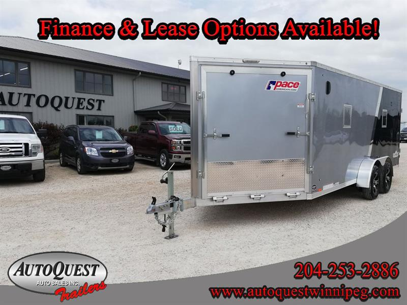 2020 Pace 7' x 23' V-Nose Combo Trailer