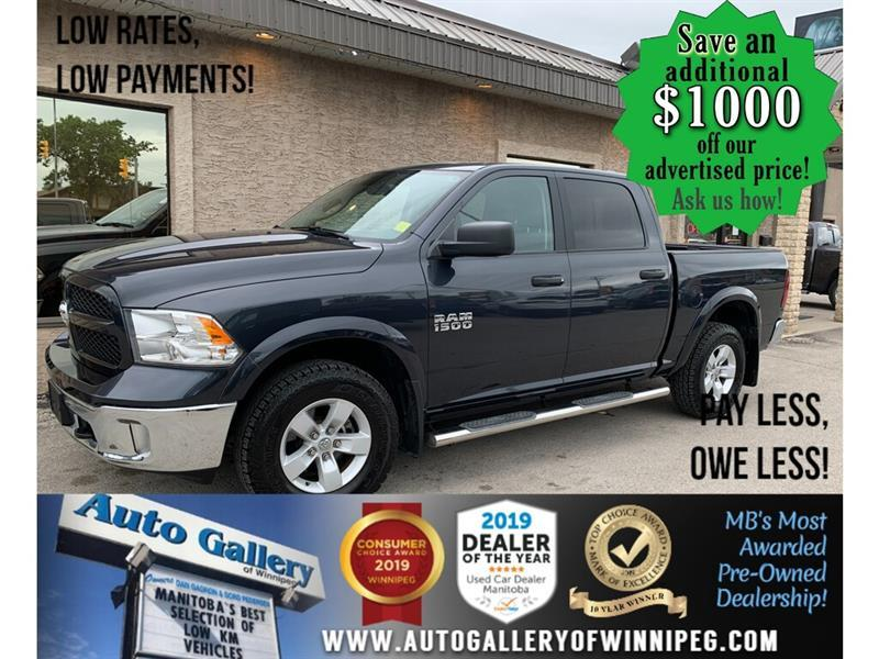2018 Ram 1500 Outdoorsman 4x4 Crew *ONLY 21,167 KMS ! #24426